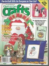Quick & Easy Crafts December 1999 Holiday Crafts/Granny Afghan & T-Top