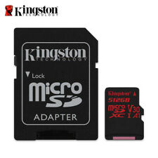 Kingston 512GB microSD SDXC UHS-I U3 Card for 4K video camera with full Tracking
