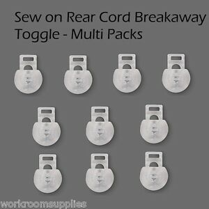 Sew On Roman Blind Toggles, Cord Adjusters, Orbs - Spring Loaded - Multi Packs