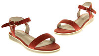 Womens Keddo Red Leather Lined Open-Toe Summer Fashion Sandals UK Size 4 7 8