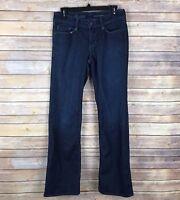 Eddie Bauer Womens Jeans Cotton Stretch Modern Fit Boot Cut Dark Wash Size 4