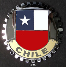 CAR GRILLE EMBLEM BADGES - CHILE(FLAG)
