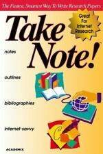 TakeNote (1999, CD-ROM) The Fastest, Smartest Way to Write Research Papers #563