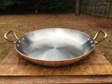 "Bridge By Mauviel Copper 11"" Gratin Paella Pot Pan Stainless Lined 2mm"