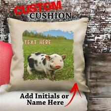 Personalised Spoted Piglet Pigs Vintage Cushion Custom Canvas Cover Gift NC181
