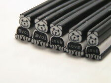 5 x Teddy 50mm Polymer Clay Canes Sticks Nail Art Slices Fruit House K178
