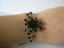 Bracelet Noir  original p robe de Mariée/Mariage/Soirée, Fleur/Perles nacrées