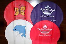 Lot of 4 AQUALIS Kids Junior Latex Print Swim Caps Variety Pack Swimming