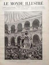 LE MONDE ILLUSTRE 1888 N 1631 LE HUITIEME CENTENAIRE DE L' UNIVERSITE DE BOLOGNE