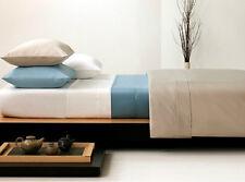 Koala Blue White 400TC 100% Australian Cotton Double Bed Fitted Sheet Set