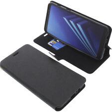 Funda para Samsung Galaxy A8+ 2018 Book Style FUNDA PROTECTORA Gadget Negro