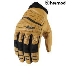 Icon Superduty 2 Short Motorbike Motorcycle Gloves - Tan
