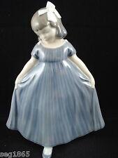 ROYAL COPENHAGEN DANCING GIRL IN BLUE DRESS - 2444