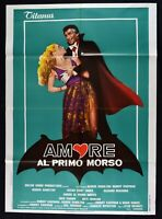 Poster Liebe Al Ersten Trense Love First Bite Stan Dragoti Dracula Vampir M323