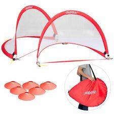 Set of 2 2.5' Pop-Up Soccer Football Goal Portable Net for Backyard w/ Bag Cones