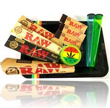 Wise Skies Reggae Tray Gift Set Raw Rolling Paper Cigarette Tube Gift Set UK