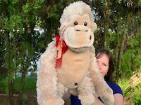 "LARGE RARE Vintage Walmart Monkey Orangutan Ape 17"" Plush Stuffed Animal Toy"