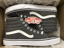 Vans Mens Sk8-Hi Micro Herringbone Grey True White Canvas Skate shoes Size  10 db78db766