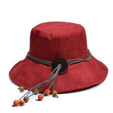 Womens Ladies Linen Summer Kentucky Derby Wide Brim Sun Hat Church Hat T208