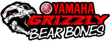Custom Skull Yamaha Grizzly ATV Tank Decals Graphic Sticker 350 450 550 660 700