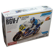 Kyosho 1:8 S.R.T. Suzuki RGV 1992 Motorcycle Kit EP RC Cars On Road #34931