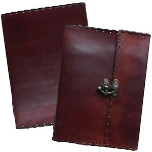 """Handmade Leather Journal Sketchbook Scrapbook with Clasp 10"""" x 7.5"""" 2nds Quality"""