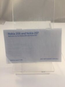 Brand New Nokia Lumia 208 and 207  Mobile Phone UK Manual - Quick Guide
