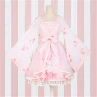 Lolita Dress Cosplay Chinese Print Bow Chiffon Embroidery Long Sleeves Skirt