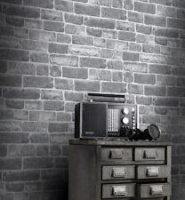 Rasch Urban Stone Brick Grey Wallpaper - 217346