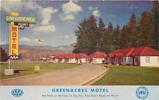 TILLAMOOK OR Greenacres Motel AMHA Roadside Cabins Vintage Postcard ca 1950s
