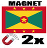 2 x GRENADE Drapeau Magnet 6x3 cm Aimant déco GRENADE magnétique frigo