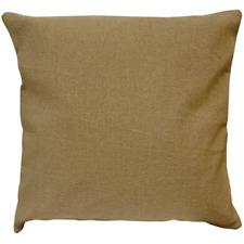 Burlap Pillow Cover 16X16 Natural Tan Cotton Primitive Country Farmhouse