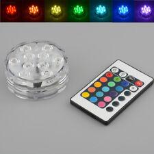 9DE0 10 LED Color Unterwasser Wasserdichtes Partei Erstaunliche Basis helle Remo