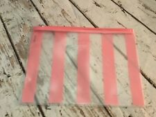 Benefit cosmetic makeup pouch bag clear stripe zipper New