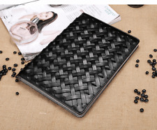 Kolorfish New Designer Leather Stand Case Cover For iPad 2 3 & 4 --iWeave- Black