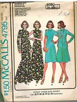 4795 UNCUT Vintage McCalls Sewing Pattern Misses Dress Jacket Easy to Sew 18 OOP