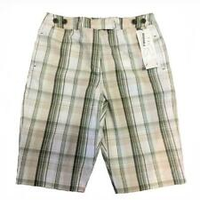 "Larry Levine Women's Striped Plaid 13"" Bermuda Skimmer Shorts $60 Size 4 Multi"