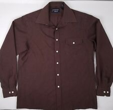 729640fe Givenchy For Chesa Mens Sz Large Brown Long Sleeve Button Front Shirt