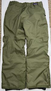 Patagonia H2O Kids Teen Boys Insulated Ski Snow Pants Green Size 2XL XXL