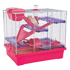 Rosewood Pico Hamster Cage, Extra Large, Pink