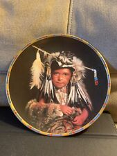 Feathers & Fun By Don Crowley Native American Children Plate Collection Lenox 94