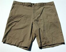 Claiborne Tan Men's Flat Front Canvas Shorts 38