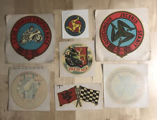 More details for vintage isle of man tt races circa 1960's rare lot (x7) water transfer stickers