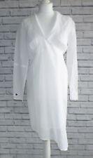 Mais Il Est Ou Le Soleil? Asymmetric White Cotton Wrap Dress Top Size 3 M