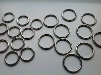 10 O Rings High Quality Welded Metal in 20mm 25mm 38mm and 50mm
