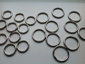 Quality Metal Round Welded O Rings 20mm or 25mm 38mm 50mm