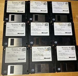 "Microsoft Windows 95 Final Release Beta March 1995 3.5"" Disks - NOT COMPLETE"