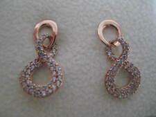 9 ct oro rosa retorcido con tachuelas pendientes colgantes NUEVO EN PROMOCIÓN