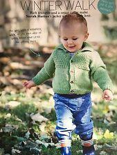 KNITTING PATTERN Baby Boys Textured Jacket Collared Cardigan Childrens Rowan