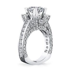 Diamonds Galore! Big 18 Gram Build from GREGORIO 2.90ctw PLAT Diamond Semi Mount